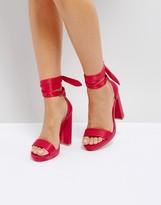 Coco Wren Tie Up Platform Sandals