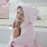 My 1st Years Personalized Pink Elephant Hooded Towel