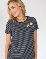 Fat Face Stripe Badge T-Shirt