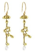 Ten Thousand Things Medium Quasar Earrings with Diamond Briolettes - 18 Karat Gold