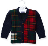 Ralph Lauren Plaid Wool-Blend Sweater, Multicolor, Size 9-24 Months