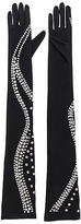 Norma Kamali Snake Rhinestone Long Gloves in Black. - size XS/S (also in )