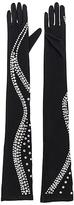 Norma Kamali Snake Rhinestone Long Gloves
