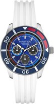 Nautica Men's Sport N16624M White Resin Quartz Watch with Dial