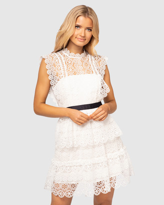 Pilgrim Women's White Mini Dresses - Lorele Dress - Size One Size, 6 at The Iconic