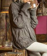 Fobya Women's Pullover Sweaters ESPRESSO - Espresso Cable Knit Turtleneck - Women