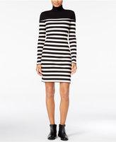 Maison Jules Striped Turtleneck Dress, Only at Macy's