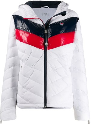 Fila Color-Block Hooded Jacket