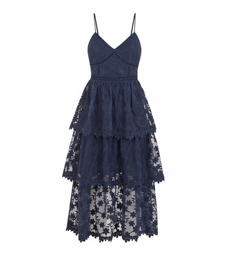 New Look Floral Lace Tiered Maxi Dress