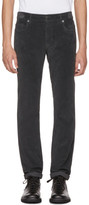 Prada Grey Velvet Jeans