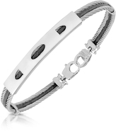 Forzieri Stainless Steel Bracelet with Rectangular Plaque