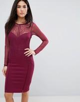 Lipsy Long Sleeve Lace Bodycon Dress