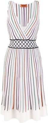Missoni striped-knit V-neck dress