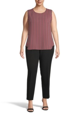Anne Klein Plus Size Carlyle Striped Top