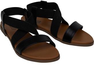 Fluid Womens Elastic Strap Sandals Black