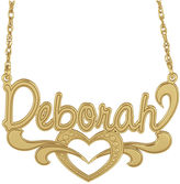 JCPenney FINE JEWELRY Personalized 14K Gold Over Silver Name Heart Pendant Necklace