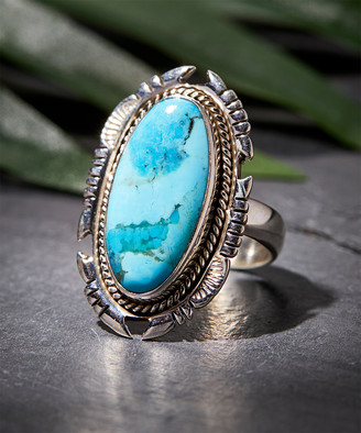 Ys Gems YS Gems Women's Rings Turquoise - Mohave Turquoise & Sterling Silver Statement Ring
