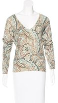 Loro Piana Cashmere Paisely Print Sweater