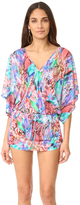 Luli Fama Gorgeous Chaos Cabana V Neck Dress