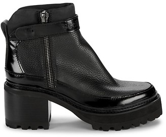 See by Chloe Hayden Lug-Sole Leather Ankle Boots