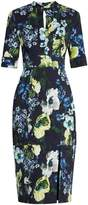 Erdem Davina Hasu Night-print cotton-blend twill dress