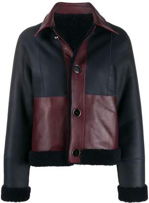 Victoria Victoria Beckham two-tone leather jacket