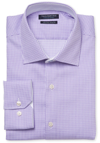 Tailorbyrd Checkered Trim Fit Dress Shirt