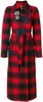 Bazar Deluxe checked trench coat