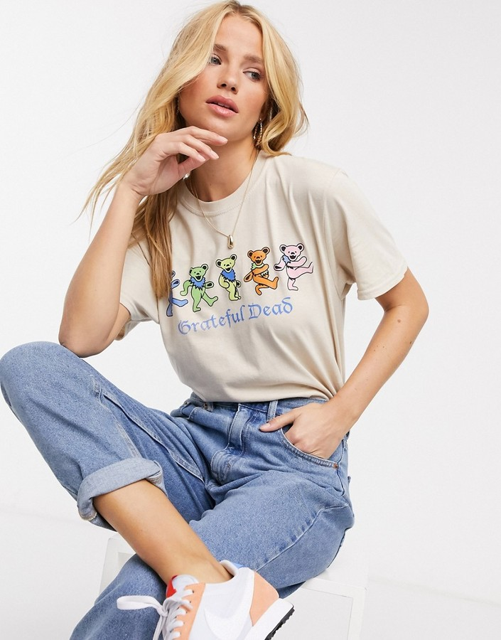Daisy Street relaxed t-shirt with grateful dead print