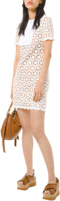 MICHAEL Michael Kors Sequin Floral Lace Shift Dress