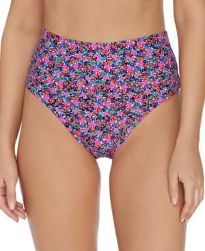 Raisins Juniors' Sunshine Gypsy High-Waist Tropics Bikini Bottoms Women's Swimsuit