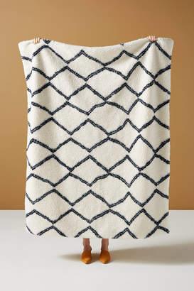 Anthropologie Nela Sherpa Throw Blanket