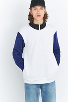 Stussy White Half-zip Fleece Mock Neck Pullover Jacket