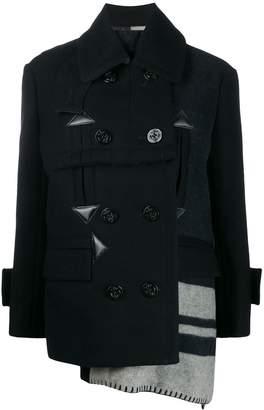 Sacai patchwork duffle jacket