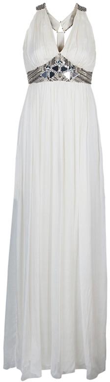 Matthew Williamson Cream Embellished Gown S