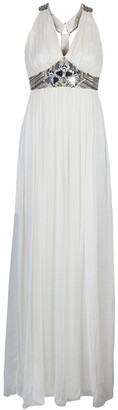 Matthew Williamson Cream Embellished Gown S