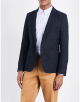 Ps By Paul Smith Patch Pocket Cotton And Linen-blend Jacket