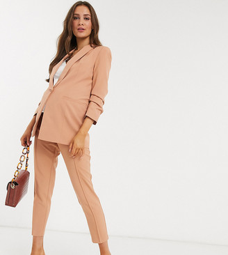 ASOS DESIGN Maternity mix & match cigarette suit trousers