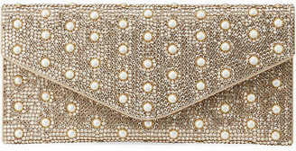 Judith Leiber Envelope Pearly Beaded Clutch Bag