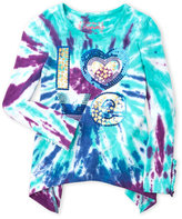 Flapdoodles Girls 4-6x) Love Tie-Dye Top