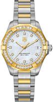Tag Heuer way1353bd0917 aquaracer diamond and 18ct gold watch