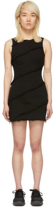 Alexander Wang Black Denim Diagonal Seamed Dress