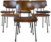 One Kings Lane Vintage Bentwood Dining Chairs - Set of 6 - brown/black