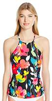Anne Cole Women's Growing Floral High Neck Tankini