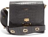 Givenchy Eden Medium Crocodile-effect Leather Messenger Bag - Womens - Grey