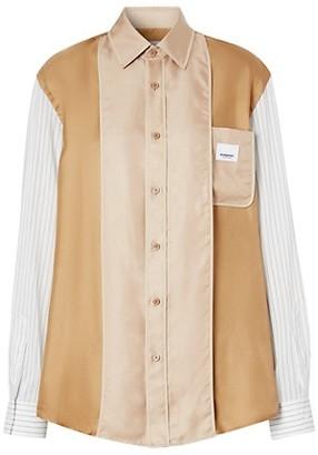 Burberry Oversized Silk Panel Shirt