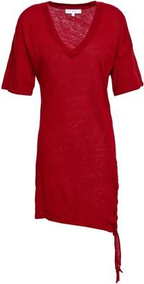 IRO Keraba Lace-up Slub Linen-jersey Mini Dress