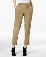 Eileen Fisher Silk Georgette Crepe Ankle Pants, Regular & Petite