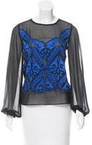 Yoana Baraschi Embellished Applique Top w/ Tags