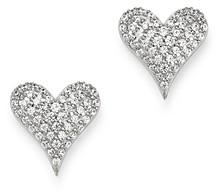 Bloomingdale's Diamond Heart Stud Earrings in 14K White Gold, 0.5 ct. t.w. - 100% Exclusive